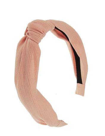 Diadema con nudo rosa palo