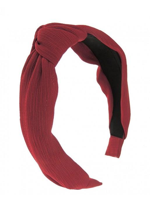 Maroon knotted headband