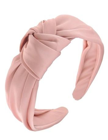 Diadema nudo satén rosa palo