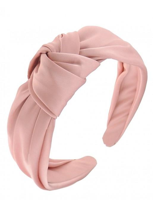 Diadema tela satén en rosa palo diseñada por Elenitos| INVITADISIMA
