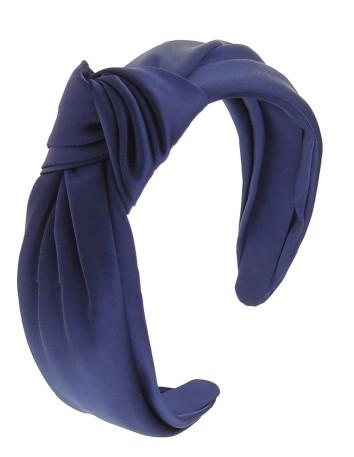 Diadema nudo azul klein satén