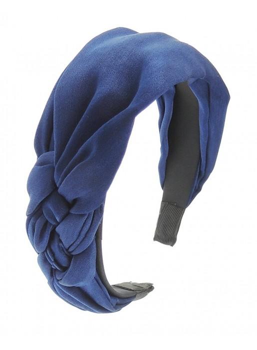 Diadema de gasa trenzada lateral azul klein Elenitos - 1