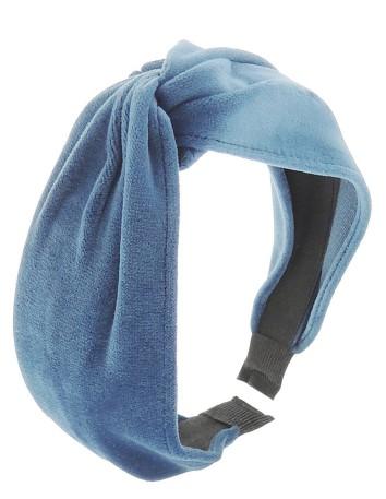 Diadema nudo terciopelo azul