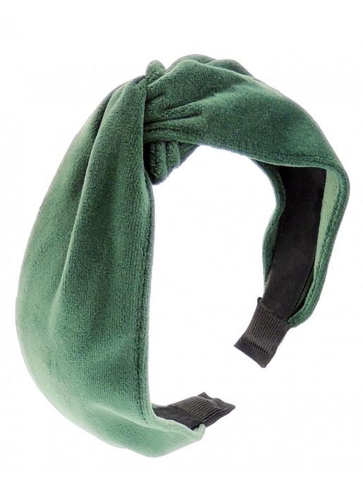 Diadema nudo de terciopelo verde