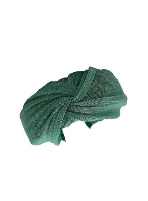 Diadema nudo - Baronesa Verde Agua Marcela & Co - 1