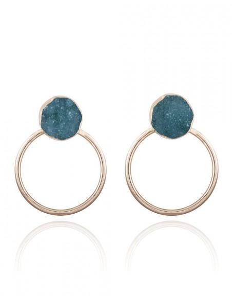 Natural stone party rings - Circle LAVANI - 1