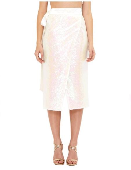 Falda blanca de lentejuelas - Charlize