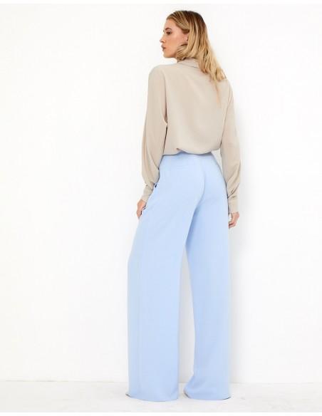 Pantalón de fiesta palazzo azul claro - Gia TEZ Originals - 2