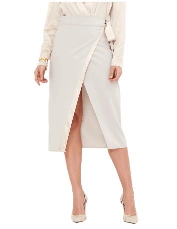 Falda de fiesta cerma con abertura central - Ella