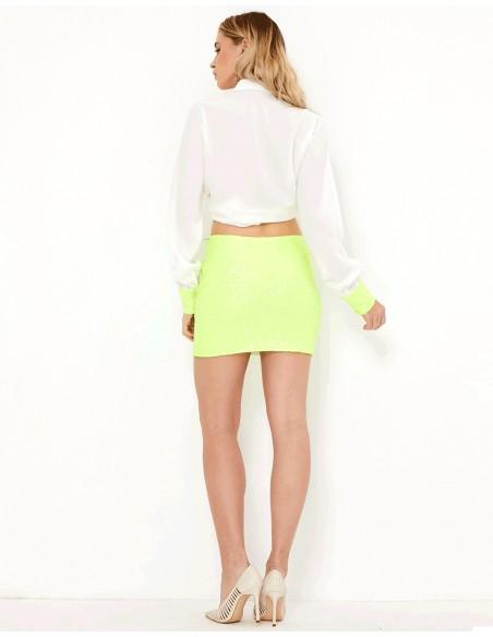 Minifalda de fiesta verde neón - Clarise - Tez Originals