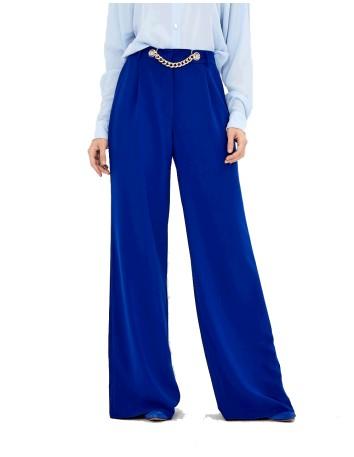 Pantalón de fiesta palazzo azul marino - Gia