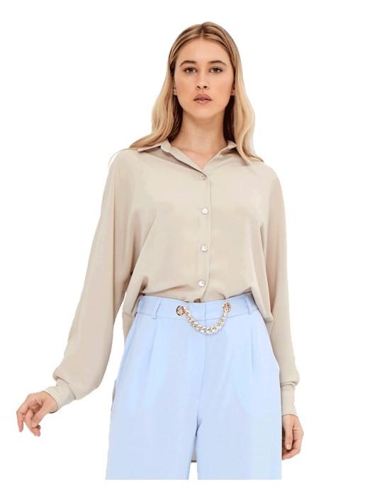 Blusa de fiesta color crema - Ramona