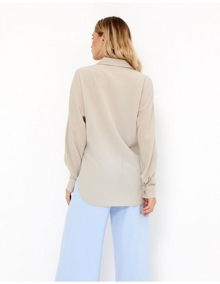 Blusa de fiesta color crema - Ramona - Tez Originals