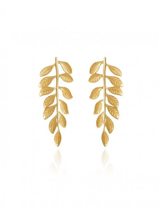 Hellenic golden leaf earrings LAVANI - 1
