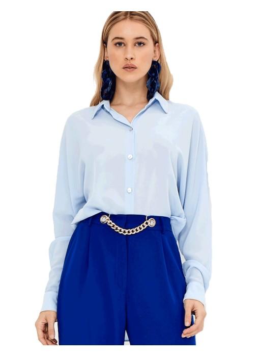 Blusa de fiesta azul claro - Ramona