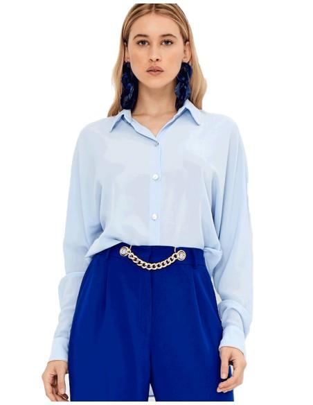Light blue party blouse  TEZ Originals - 1