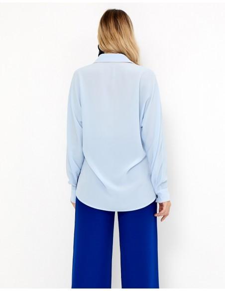 Blusa de fiesta azul claro - Ramona - Tez Originals