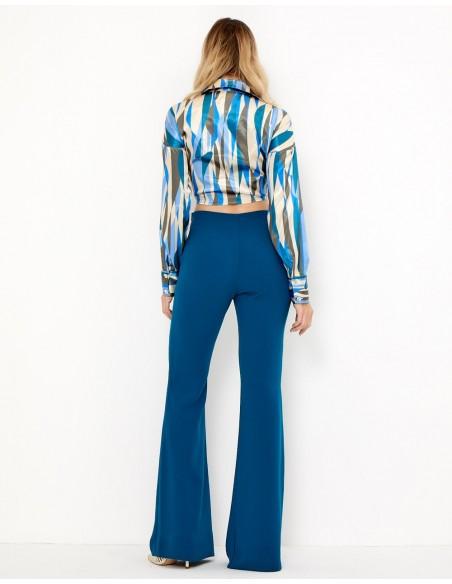 Blusa de fiesta estampada con nudo a la cintura - Bonita - Tez Originals