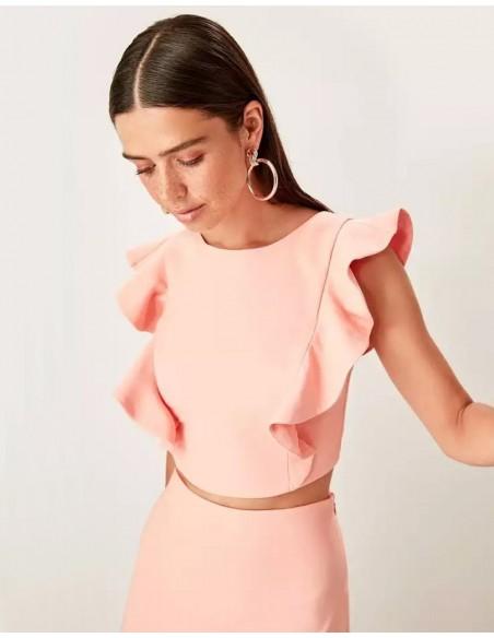 Set of skirt and crop top for angel sleeve guest Lauren Lynn London - 6