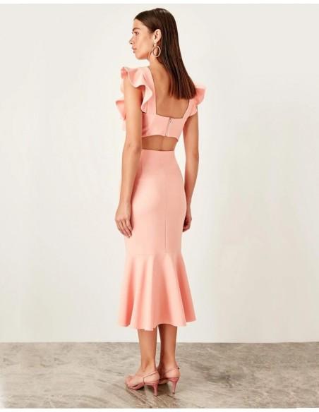 Set of skirt and crop top for angel sleeve guest Lauren Lynn London - 8