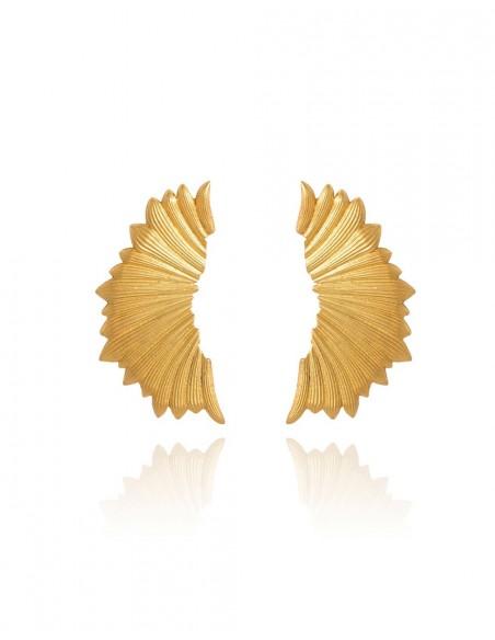 pendientes dorados alas de dragon fiesta lavani