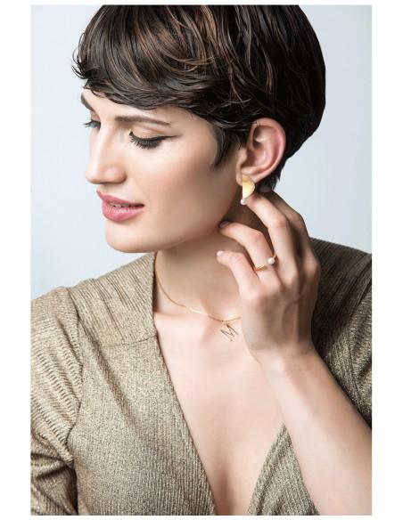 anillo fino perla ajustable dorado boda invitada modelo