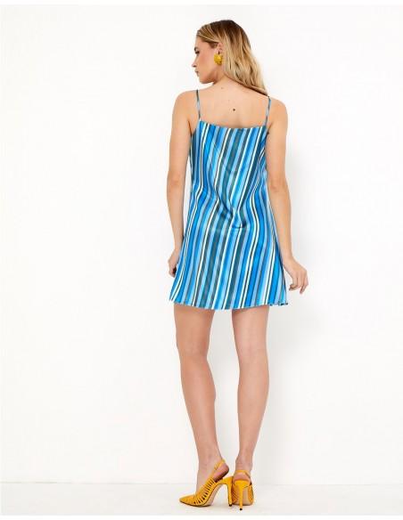 Vestido minifaldero con estampado - Sia - Tez Originals
