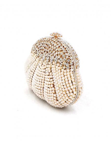 Clutch de fiesta con forma concha y cristales de Swarovski BcnHanami - 2