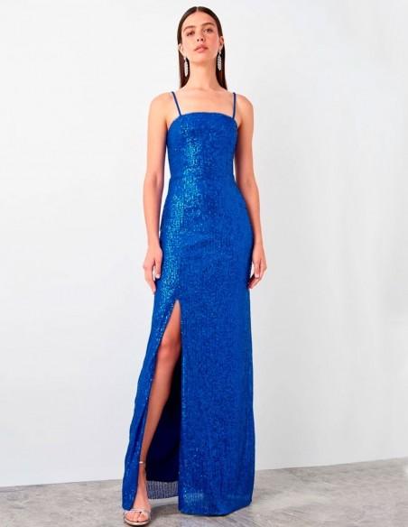 Luxury sleeveless sequin maxi dress