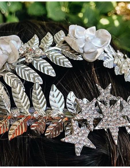 Jewelry headdress for daytime weddings