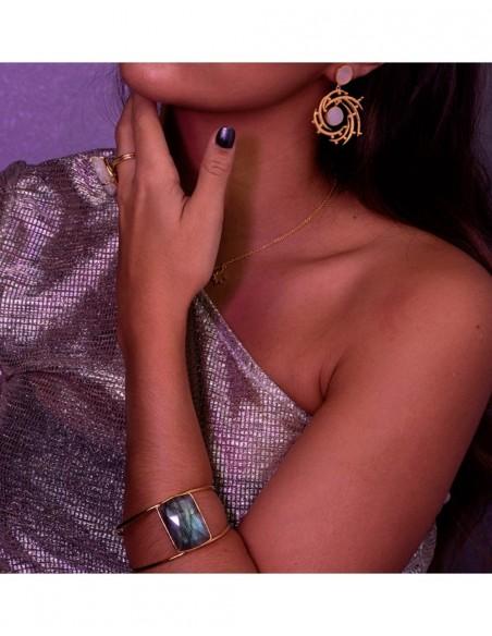 Bracelet lavani party complement wedding invitadisima ideal labradorite