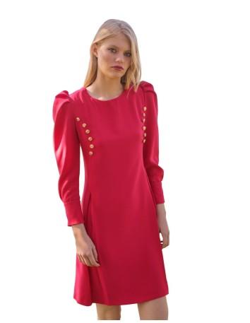 Vestido en crep rugoso de Meryfor para INVITADISIMA, serás la invitada ideal