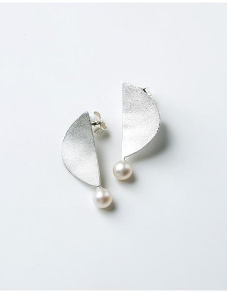 Espectaculares pendientes de plata con perla de Eme Jewels