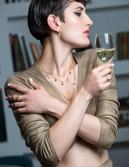 Collar de cruces de Eme Jewels para INVITADISIMA. Complemento ideal.