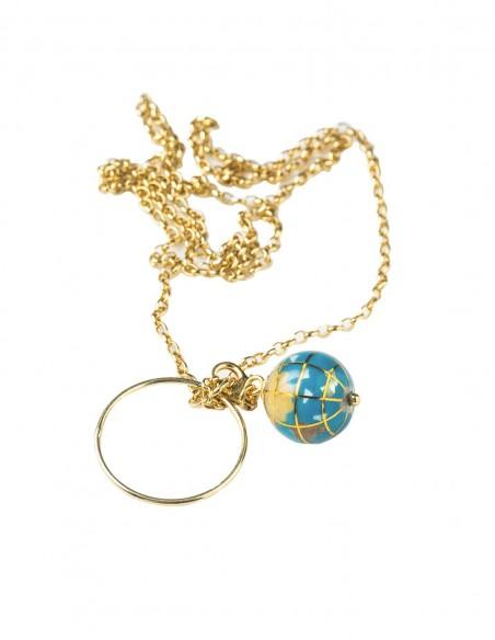 Eme Jewels World Gold Ball Necklace at INVITADISIMA