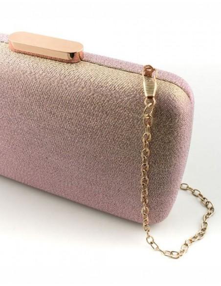 metallic effect clutch bag