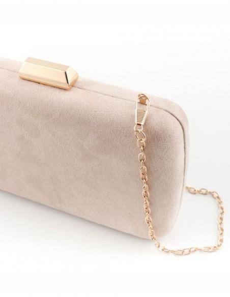nude clutch bag for wedding guest Lauren Lynn London Accessories - 2