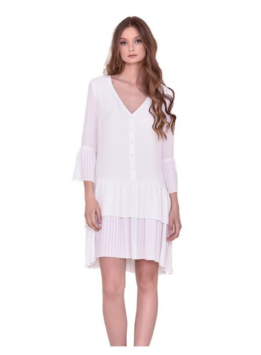 White dress midi Nuribel