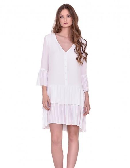 Vestido blanco midi Nuribel