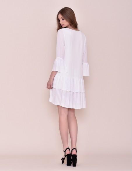 Vestido midi blanco de fiesta cóctel