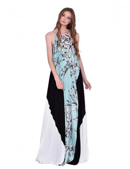 Long floral design dress nuribel - 1
