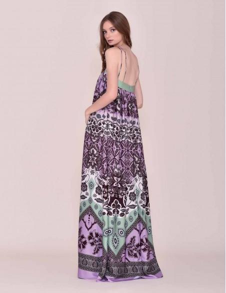 Long print dress INVITADISIMA
