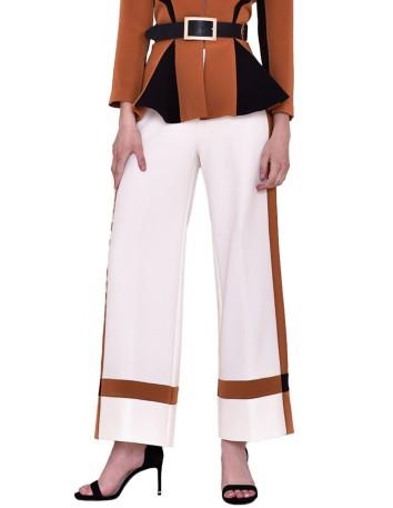 Pantalones de fiesta en blanco al tobillo de nuribel