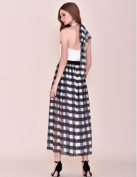 Checkered party skirt at INVITADISIMA