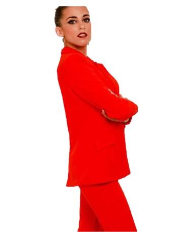 chaqueta americana roja