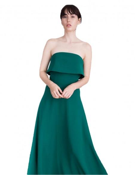 Vestido de fiesta largo para eventos especiales verde esmeralda