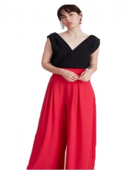 Pantalones Palazzo Millie Fucsia Lauren Lynn London - 1