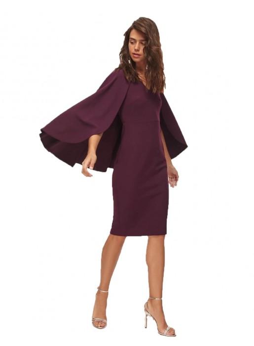 Garnet cocktail dress with cape Lauren Lynn London - 1