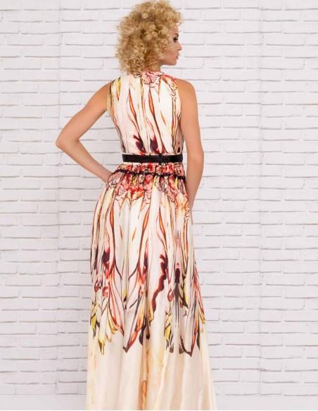 maxi dress printed betl wedding party model