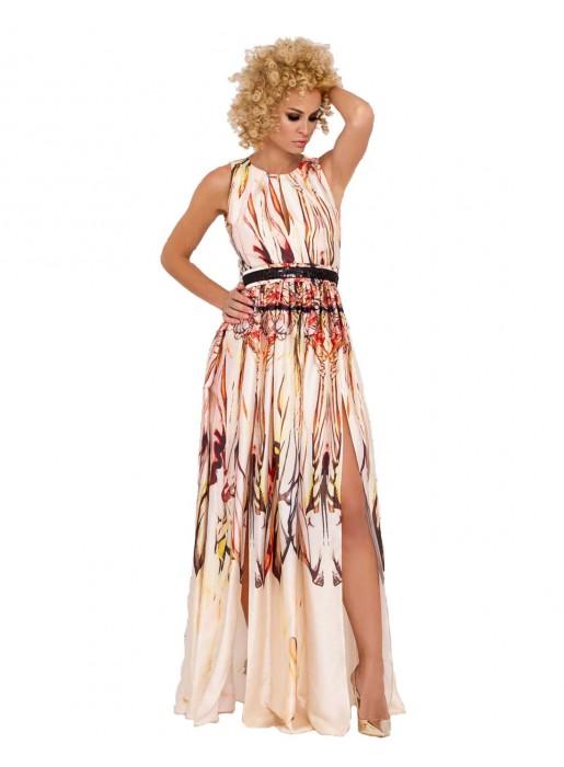 maxi dress printed betl wedding party model formal
